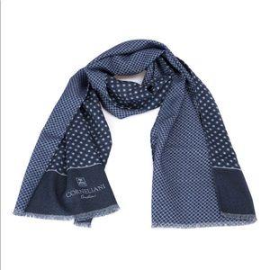 Corneliani Geometric Patterned Wool Men Scarf